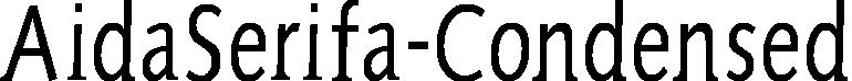 AidaSerifa-Condensed example