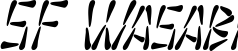 SF Wasabi Condensed Italic