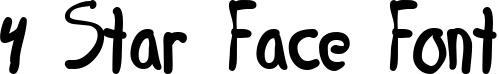 4 Star Face Font title image