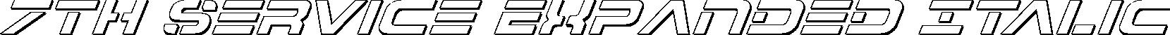 7th Service Outline Italic