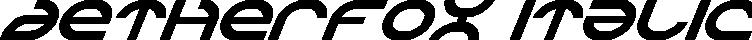 Aetherfox Italic