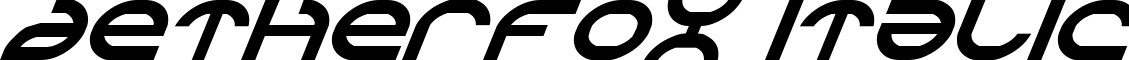 Aetherfox Italic example
