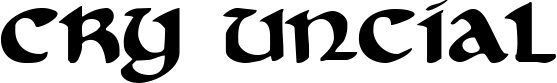 Cry Uncial example
