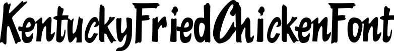 KentuckyFriedChickenFont example