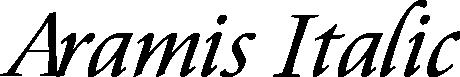 Aramis Italic example