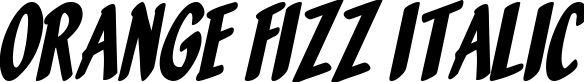 Orange Fizz Italic example