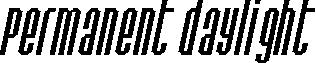 Permanent daylight Italic
