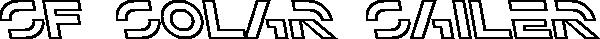 SF Solar Sailer Outline Italic