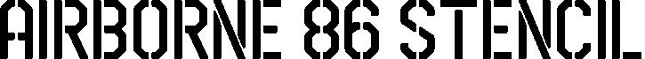 Airborne 86 Stencil example