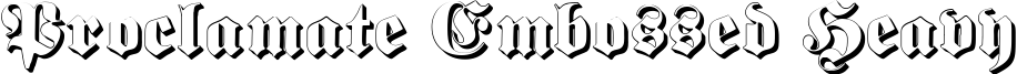 Proclamate Embossed Heavy
