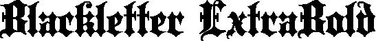 Blackletter ExtraBold