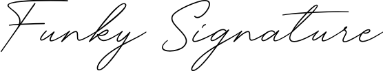 Funky Signature example
