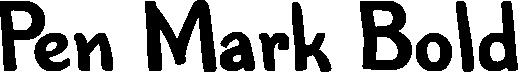 Pen Mark Bold example