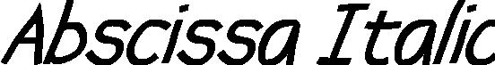 Abscissa Italic example