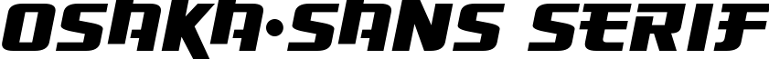 Osaka-Sans Serif example