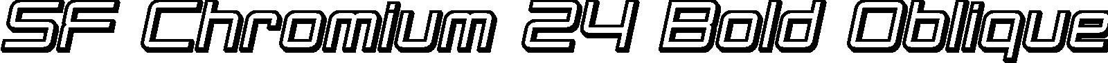 SF Chromium 24 Bold Oblique title image