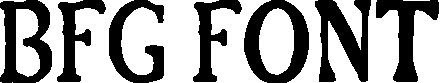 BFG Font title image