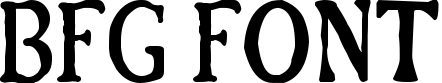 BFG Font example
