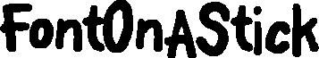 FontOnAStick example