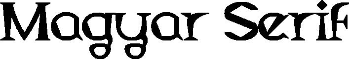Magyar Serif example
