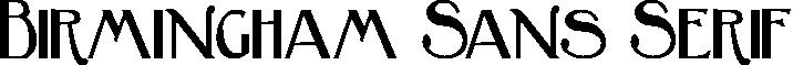 Birmingham Sans Serif
