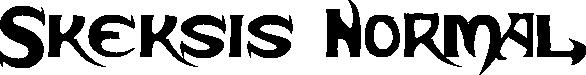Skeksis Normal title image