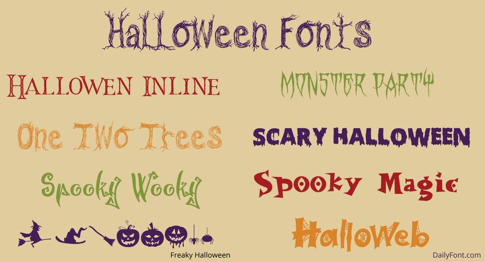 Halloween Fonts at DailyFont.com