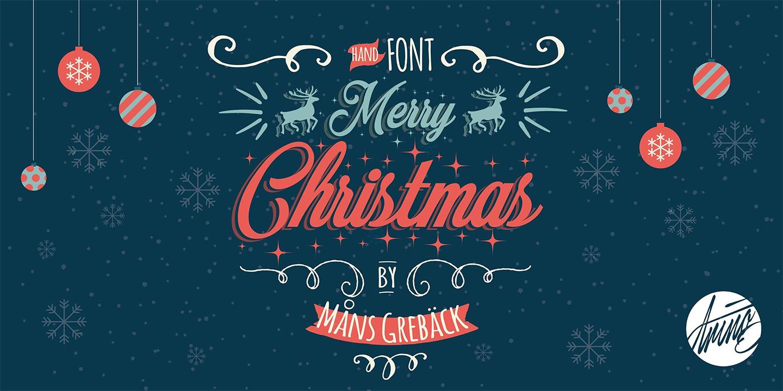 Merry Christmas Flake sample image