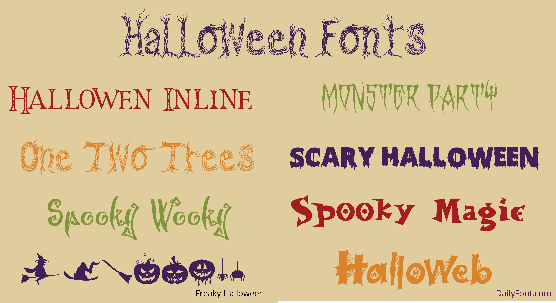 Halloween Font Samples